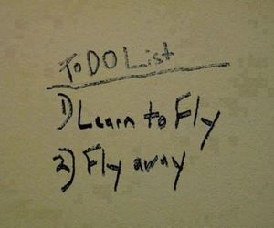 fly, fly away, and quotes image