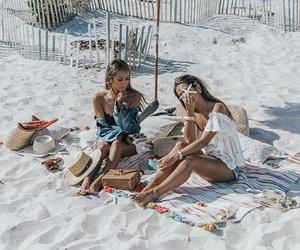 beach, girls, and sand image