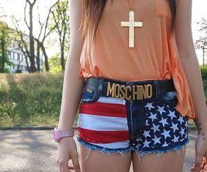 fashion, girl, and Moschino image