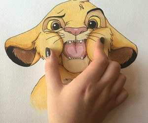 simba, art, and disney image