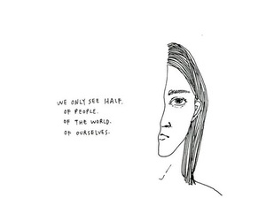 quotes, art, and half image