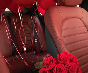 red, flowers, and luxury image