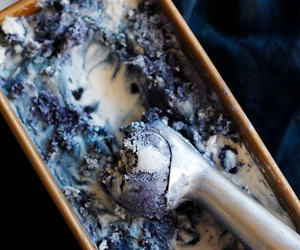 delicious, ice cream, and blueberry image