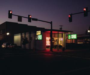 night, city, and lights image