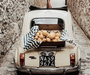 italy, lemon, and car image