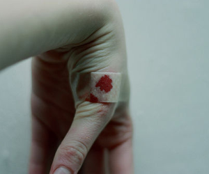 blood, pale, and hand image