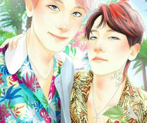exo, chanbaek, and fanart image