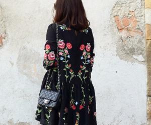 chanel, handbag, and dress image