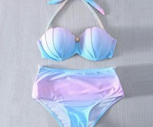 mermaid, bikini, and summer image