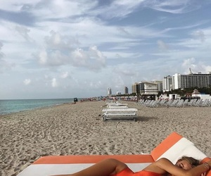 beach, Miami, and red image