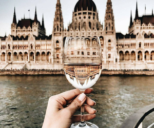 travel, budapest, and drink image