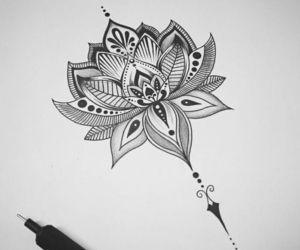 art, mandala art, and drawing image