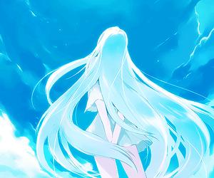 anime, sky, and anime girl image