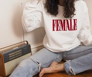 fashion, female, and feminism image