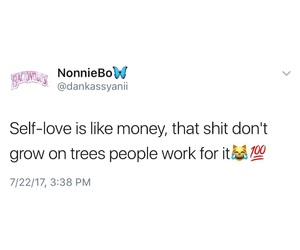 tweets, real shit, and self-love image