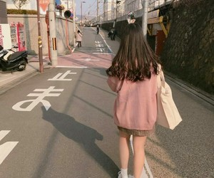 girl, aesthetic, and pink image