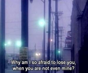 quotes, afraid, and sad image