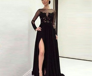 black, gorgeous, and dress image