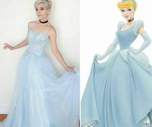 blue, disney, and dress image