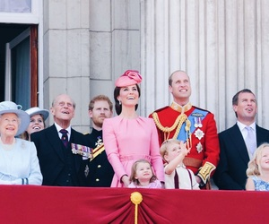 queen elizabeth, kate middleton, and prince william image