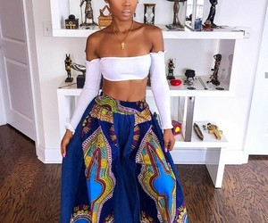 fashion, beautiful, and african print image
