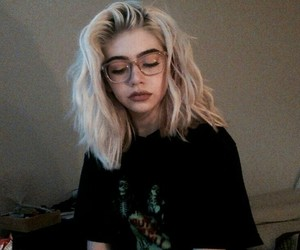 girl, grunge, and glasses image