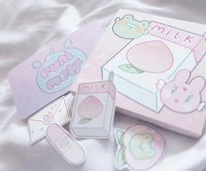 pastel, pink, and sticker image