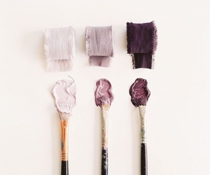 art, paint, and purple image