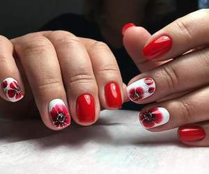 art, nails, and red image