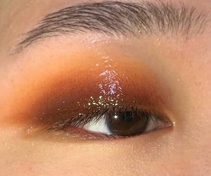 aesthetic, glossy makeup, and eyes image