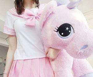kawaii, pink, and unicorn image