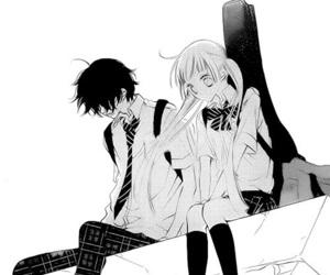 black&white, fukumenkei noise, and anonymous noise image