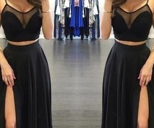 black dress and style image