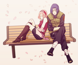 naruto, itachi, and sakura image