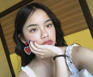 asian, earrings, and makeup image