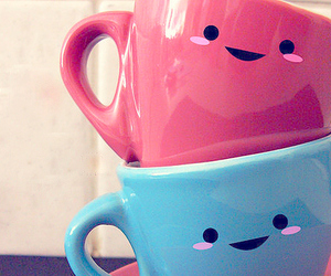 cute, cup, and blue image