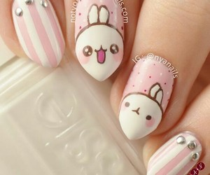 nails, bunny, and kawaii image