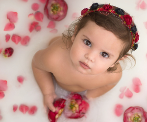 baby, bath, and beautiful image
