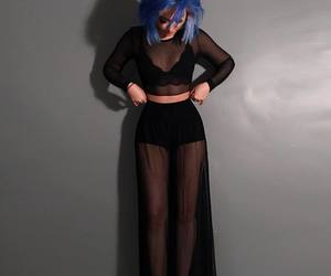 blue hair, style, and clothes image