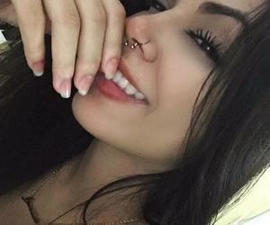 eyebrows, piercing, and septum image