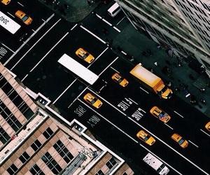 city, new york, and dark image