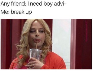 funny, advice, and break up image