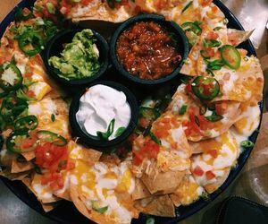 nachos, salsa, and guacamole image