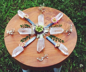 crystals and flowers image