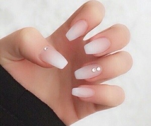 french, nails, and french manicure image