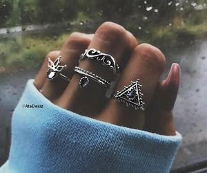 rings, boho, and jewerly image