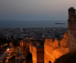 lights, thessaloniki, and skg image