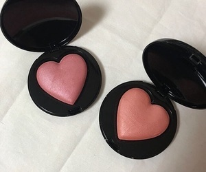 pink, makeup, and blush image