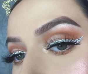 diamonds, eyebrows, and eyelashes image