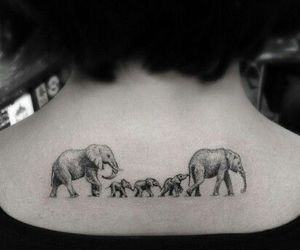 elephant, tattoo, and family image